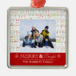 Ornamento feliz y brillante de la foto de familia ornamentos para reyes magos