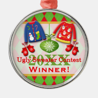 Ornamento feo 6 del ganador de la competencia del adornos de navidad
