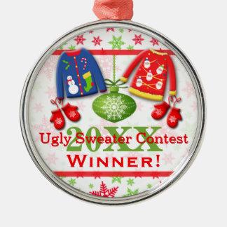 Ornamento feo 7 del ganador de la competencia del ornamentos de navidad