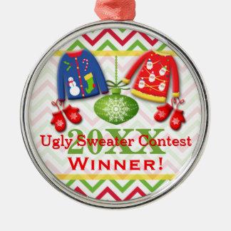 Ornamento feo 8 del ganador de la competencia del ornamento para arbol de navidad