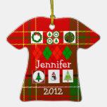 Ornamento feo de la camisa del suéter del navidad ornato