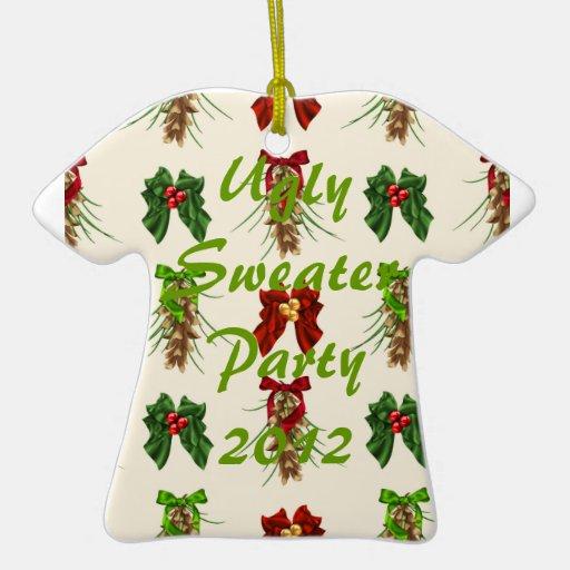 Ornamento feo del fiesta del suéter ornatos