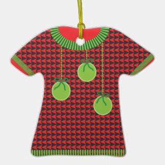 Ornamento feo del premio del suéter del navidad ornamento de navidad