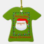 Ornamento feo del suéter de Papá Noel Adorno De Reyes