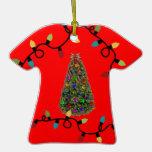 Ornamento feo del suéter del árbol de navidad ornamento para arbol de navidad
