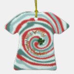 Ornamento festivo de la camiseta del teñido anudad adorno