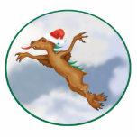 Ornamento festivo del Chupacabra del vuelo Esculturas Fotograficas