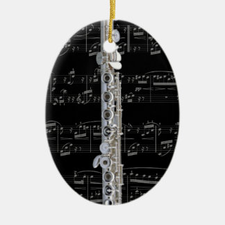 Ornamento - flauta 2 - escoja su color adorno navideño ovalado de cerámica