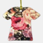 Ornamento floral de la camiseta del vintage ornatos