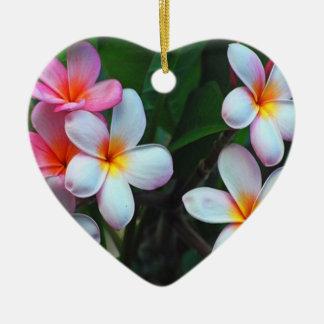 Ornamento floral hawaiano ornamento de navidad
