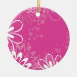 Ornamento floral rosado vibrante adornos