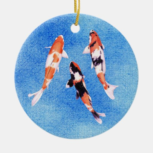 Ornamento flotante del azul de Koi Ornato