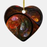 Ornamento flúido del corazón del arte abstracto de ornatos