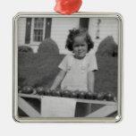 Ornamento - foto de los años 40 del vintage ornamente de reyes
