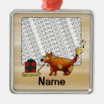 Ornamento, foto y plantilla del nombre, presente d adorno de navidad
