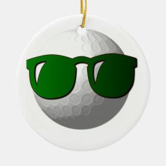 Ornamento fresco de la pelota de golf ornaments para arbol de navidad