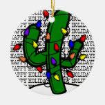 Ornamento fresco del cactus de navidad adorno