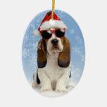 Ornamento fresco del navidad de Yule Adorno Navideño Ovalado De Cerámica