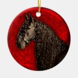Ornamento frisio del caballo ornato