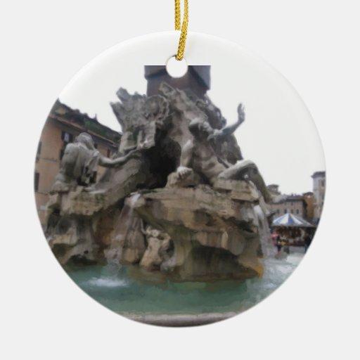 Ornamento - fuente de los cuatro ríos adorno para reyes