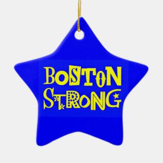 Ornamento fuerte de la estrella de Boston Adorno Navideño De Cerámica En Forma De Estrella