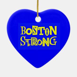 Ornamento fuerte del corazón de Boston Adorno Navideño De Cerámica En Forma De Corazón