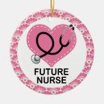 Ornamento futuro del regalo de la enfermera ornamentos de navidad