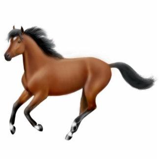 Ornamento galopante del caballo de bahía escultura fotográfica