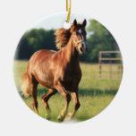 Ornamento galopante del caballo de la castaña adorno de navidad