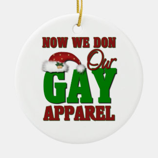 Ornamento gay divertido del navidad adorno para reyes