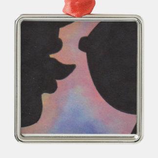 Ornamento gay lesbiano del caramelo LGBT de las Adorno Navideño Cuadrado De Metal