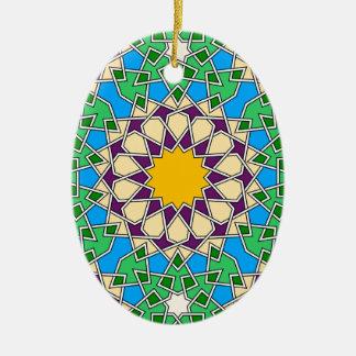 Ornamento geométrico islámico del modelo adorno de reyes