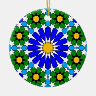 Ornamento geométrico islámico del modelo ornamente de reyes