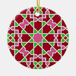 Ornamento geométrico islámico del modelo ornamento de navidad