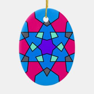 Ornamento geométrico islámico del modelo ornamento para arbol de navidad