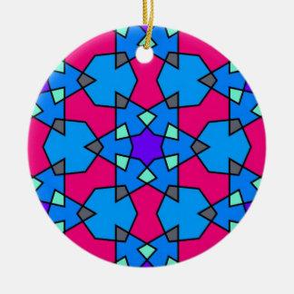 Ornamento geométrico islámico del modelo ornamentos de navidad