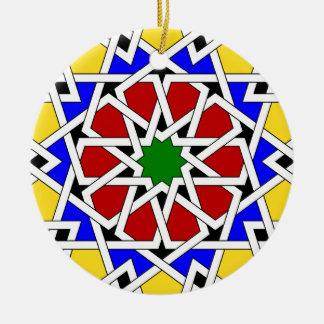 Ornamento geométrico islámico del modelo ornamentos de reyes magos