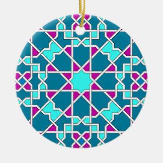 Ornamento geométrico islámico del modelo adornos de navidad