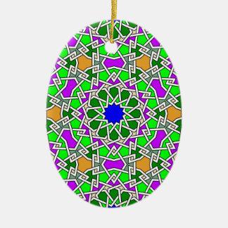 Ornamento geométrico islámico del modelo adorno de navidad