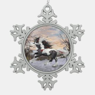 Ornamento gitano del caballo de Vanner del copo de Adorno De Peltre En Forma De Copo De Nieve