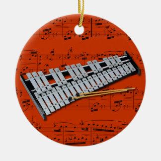 Ornamento - Glockenspiel (Belces) - escoja su Adorno Navideño Redondo De Cerámica