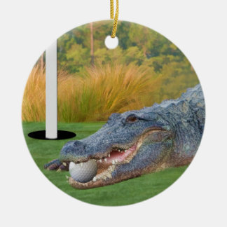 Ornamento Golfing del cocodrilo de la mentira peli Ornaments Para Arbol De Navidad