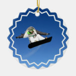 Ornamento grande de la snowboard del aire adornos de navidad
