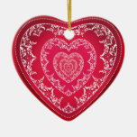 Ornamento grande del corazón adorno de navidad