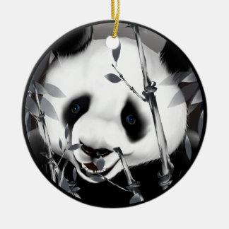 Ornamento gris de la panda del tono adorno