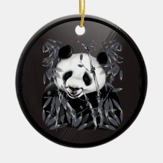 Ornamento gris de la panda del tono adornos