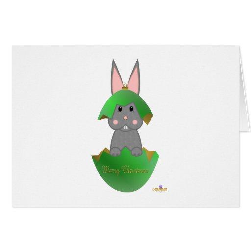Ornamento gris feliz Christma del navidad del verd Felicitación