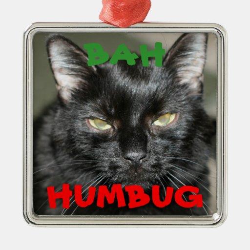 Ornamento gruñón del día de fiesta del gato del ornamento para reyes magos