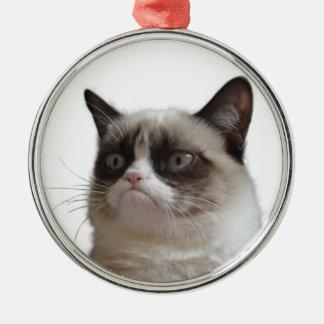 """Ornamento gruñón del navidad del """"resplandor adorno navideño redondo de metal"""