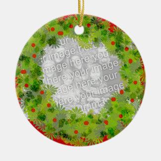 Ornamento - guirnalda adorno navideño redondo de cerámica